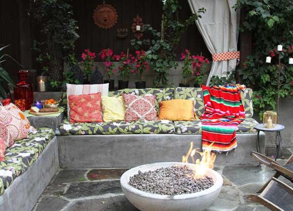 Cách trang trí sân vườn theo phong cách Bohemian (9)