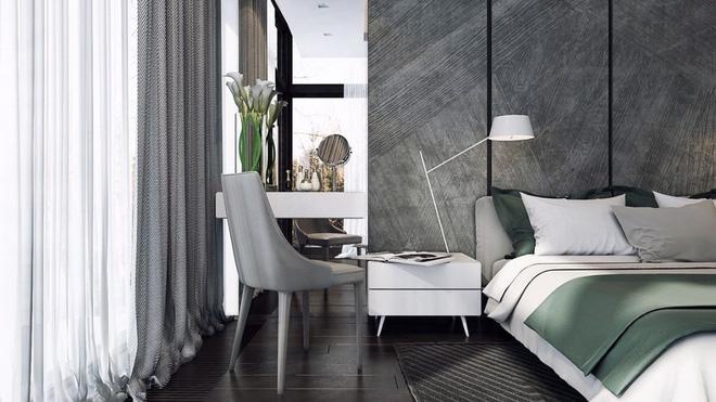 Những không gian phòng ngủ đẹp màu xám (3)