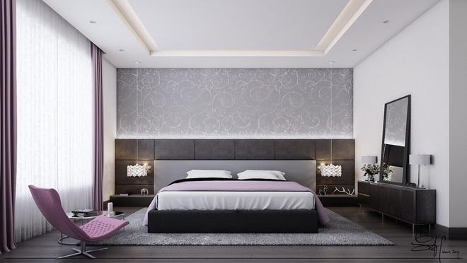 Những không gian phòng ngủ đẹp màu xám (5)