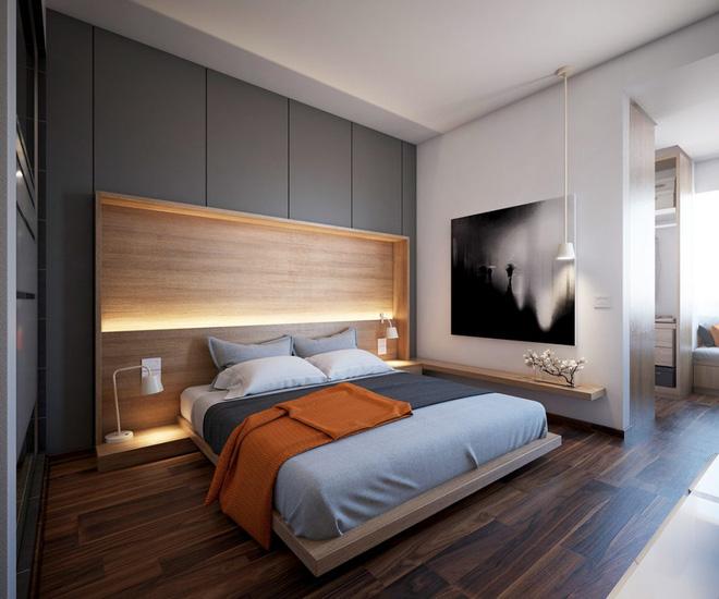 Những không gian phòng ngủ đẹp màu xám (9)