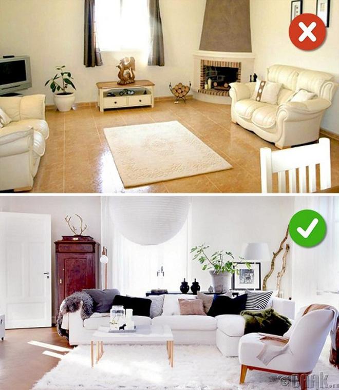 Những lỗi thiết kế phòng khách (1)