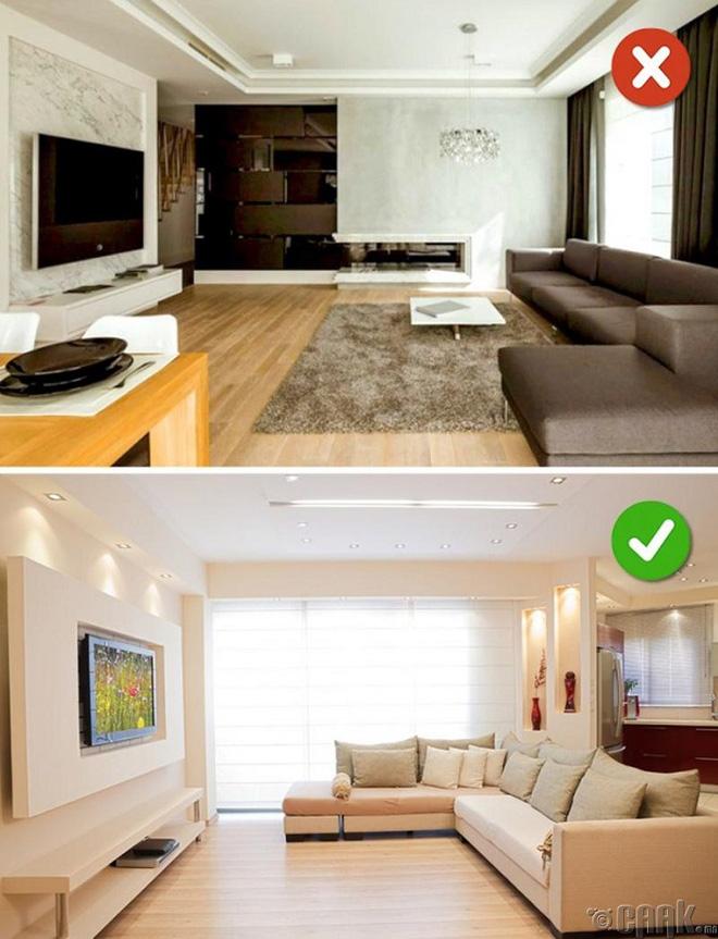 Những lỗi thiết kế phòng khách (3)