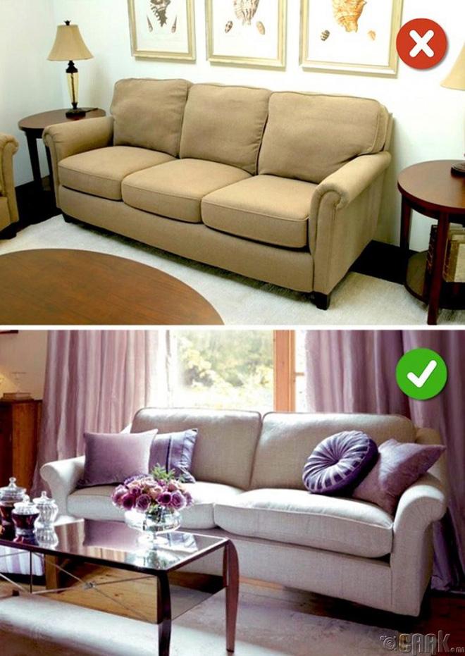 Những lỗi thiết kế phòng khách (5)