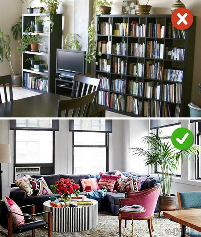 Những lỗi thiết kế phòng khách (12)