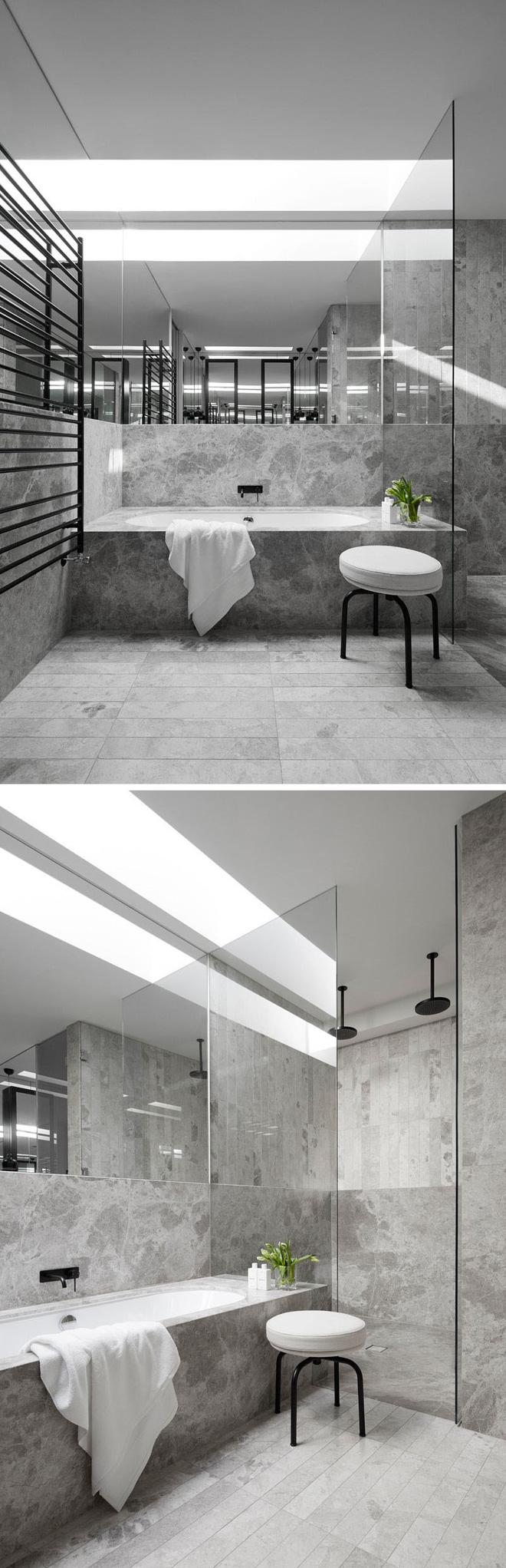 Trang trí phòng tắm sang chảnh hết nấc bằng đá cẩm thạch (1)
