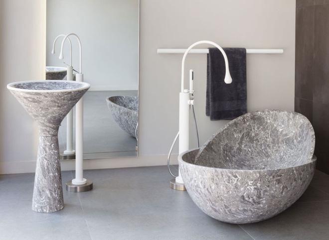 Trang trí phòng tắm sang chảnh hết nấc bằng đá cẩm thạch (10)