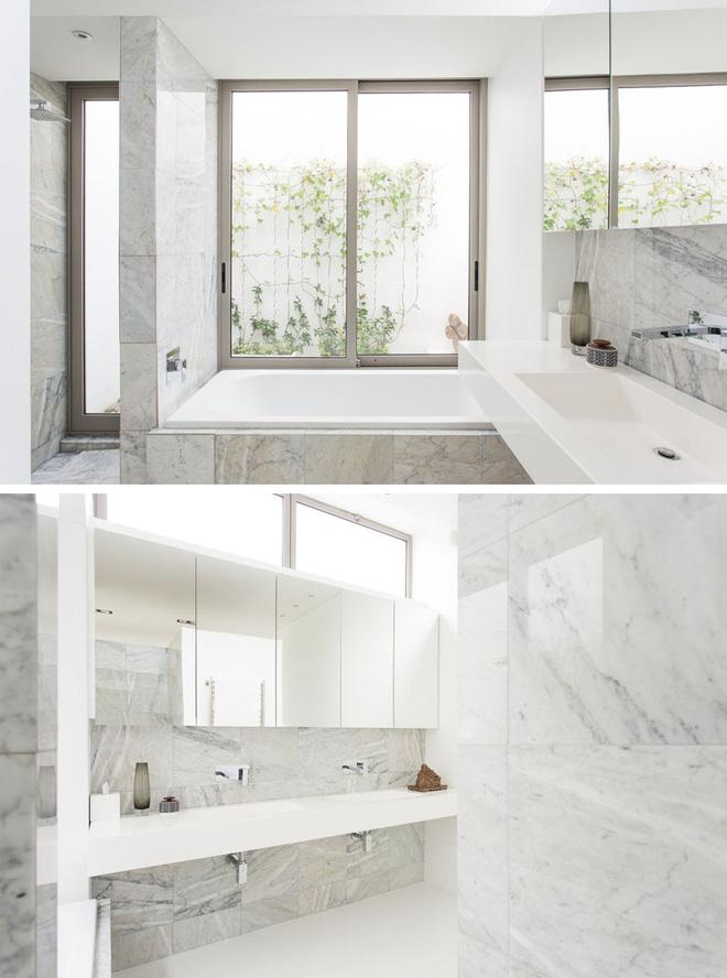 Trang trí phòng tắm sang chảnh hết nấc bằng đá cẩm thạch (2)