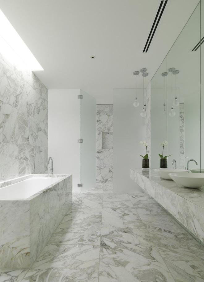 Trang trí phòng tắm sang chảnh hết nấc bằng đá cẩm thạch (3)