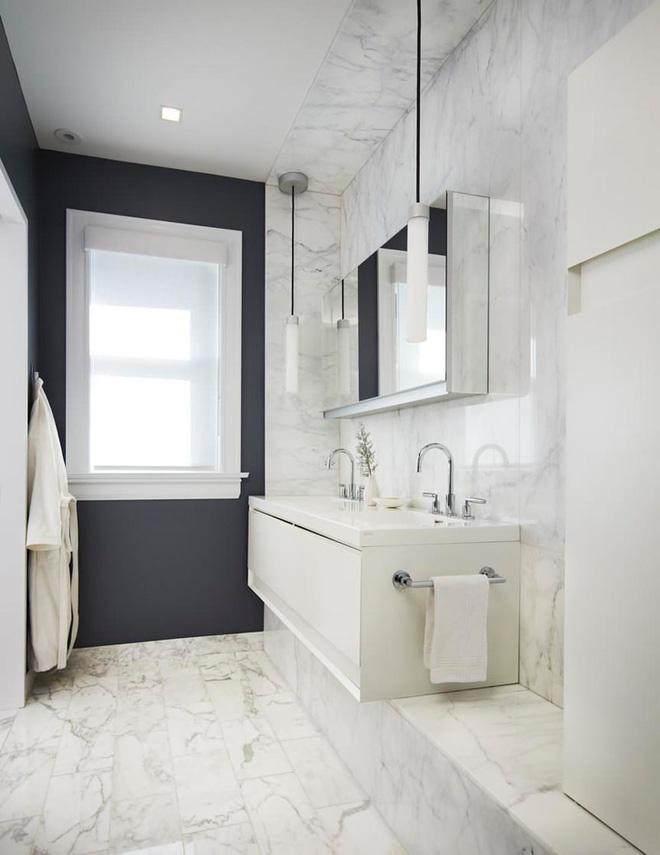 Trang trí phòng tắm sang chảnh hết nấc bằng đá cẩm thạch (5)