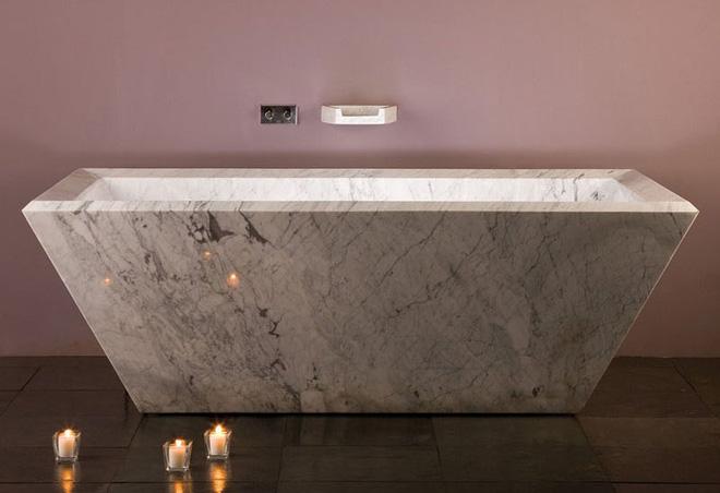 Trang trí phòng tắm sang chảnh hết nấc bằng đá cẩm thạch (8)
