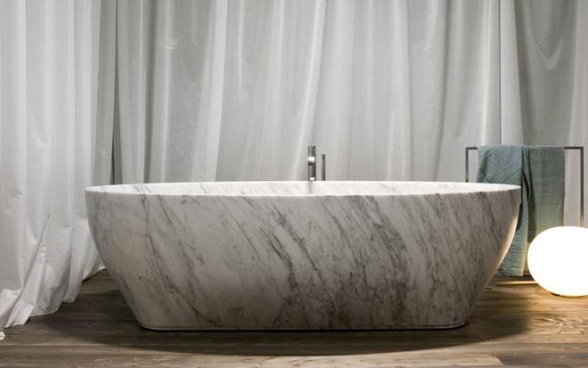 Trang trí phòng tắm sang chảnh hết nấc bằng đá cẩm thạch (9)
