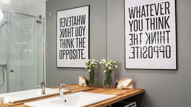 Tranh chữ slogan - Xu hướng trang trí nội thất của năm (1)