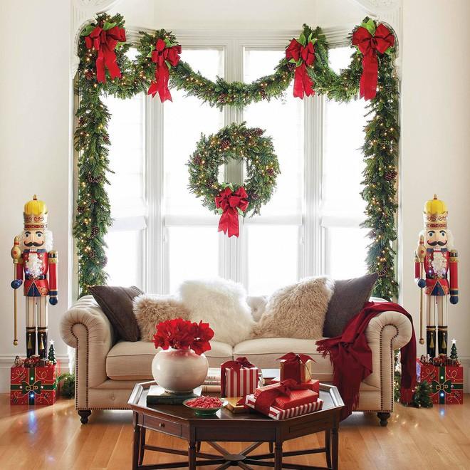 14 không gian phòng khách trang trí Giáng sinh nổi bật - Nhà Đẹp Số (12)