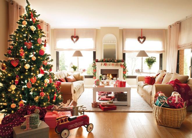 14 không gian phòng khách trang trí Giáng sinh nổi bật - Nhà Đẹp Số (2)