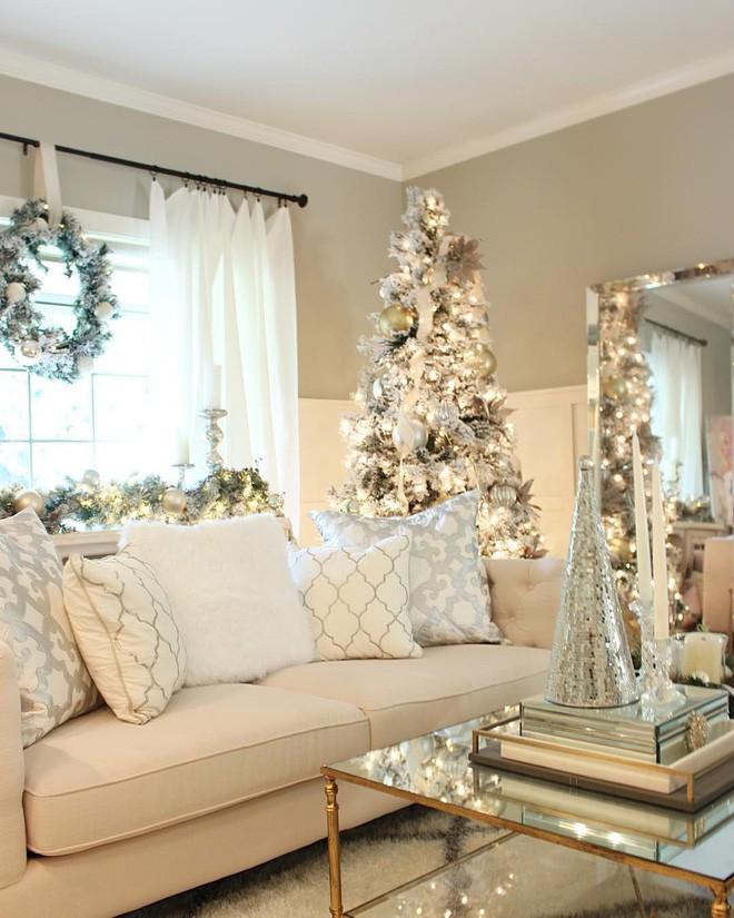 Màu của tuyết trắng ngày càng được lòng trong việc trang trí Giáng sinh