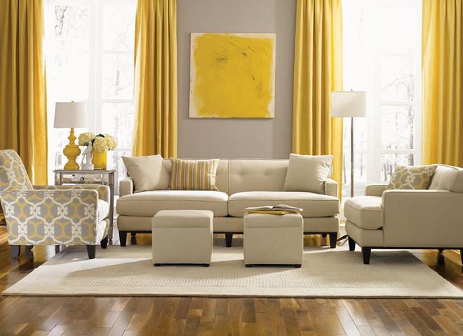 14 mẫu phòng khách vàng-xám đẹp xuất sắc (1)