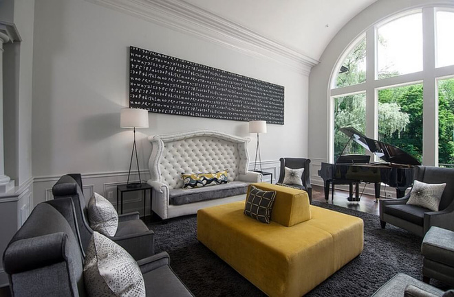 14 mẫu phòng khách vàng-xám đẹp xuất sắc (10)