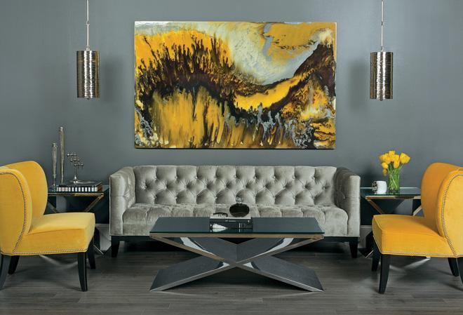 14 mẫu phòng khách vàng-xám đẹp xuất sắc (12)