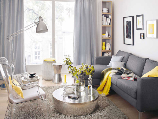 14 mẫu phòng khách vàng-xám đẹp xuất sắc (14)