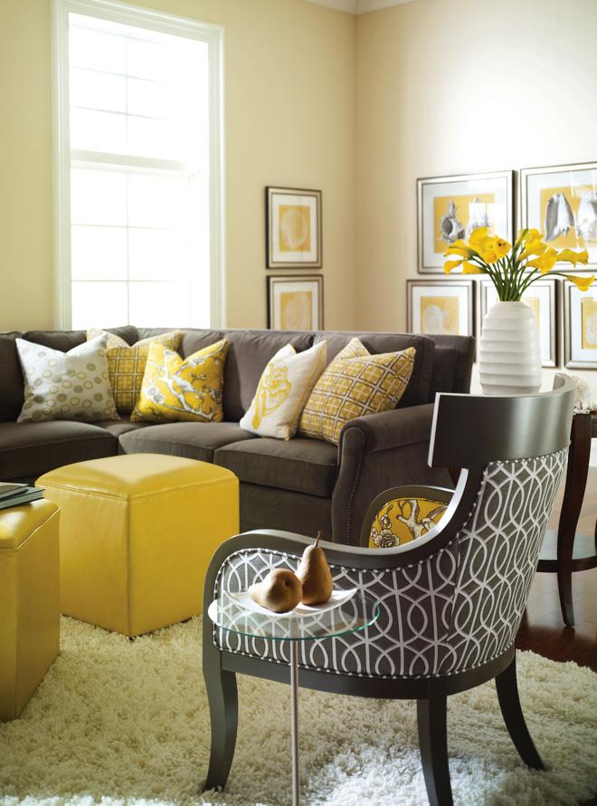 14 mẫu phòng khách vàng-xám đẹp xuất sắc (2)