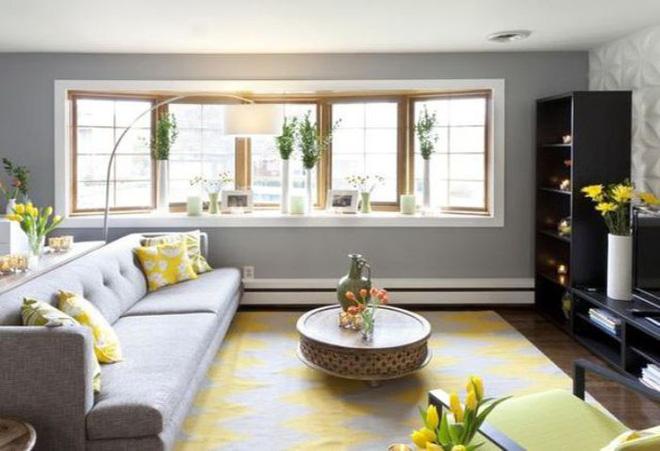14 mẫu phòng khách vàng-xám đẹp xuất sắc (3)