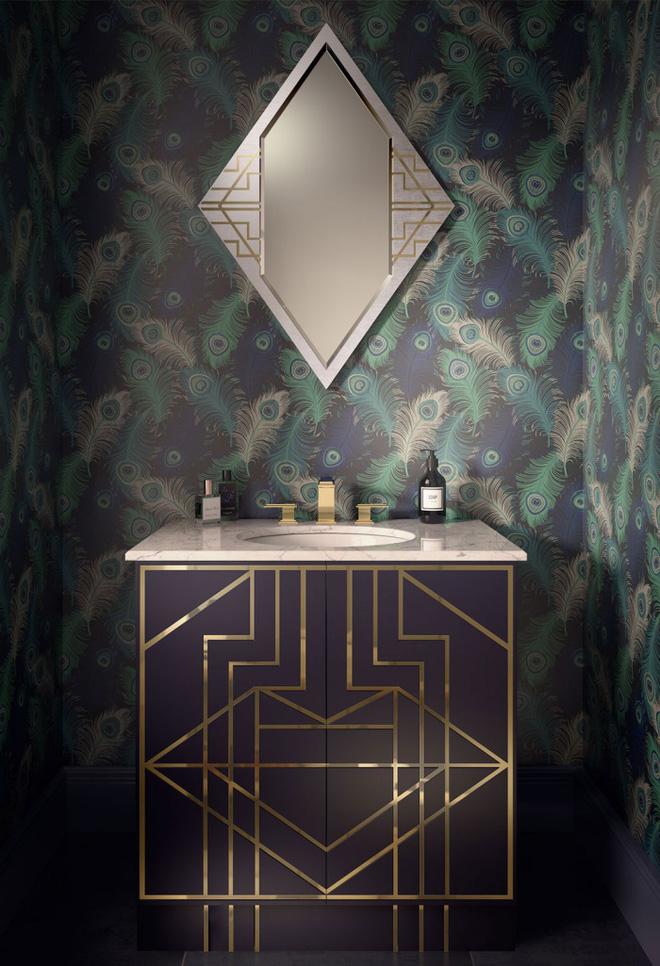 3 yếu tố không nên xem nhẹ khi trang trí phòng tắm phong cách Art Deco - Nhà Đẹp Số (10)