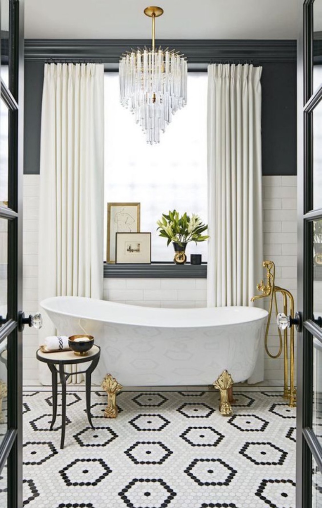 3 yếu tố không nên xem nhẹ khi trang trí phòng tắm phong cách Art Deco - Nhà Đẹp Số (13)