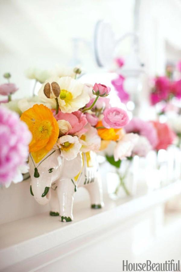 30 ý tưởng trang trí nhà đẹp bằng hoa (30)