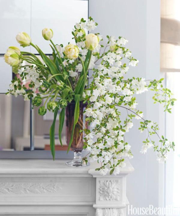 30 ý tưởng trang trí nhà đẹp bằng hoa (7)