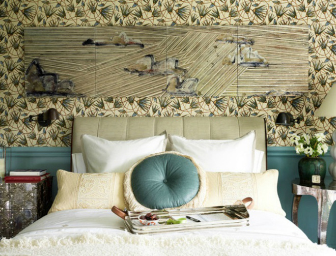 Các ý tưởng trang trí tường đầu giường phòng ngủ thêm lung linh - Nhà Đẹp Số (5)