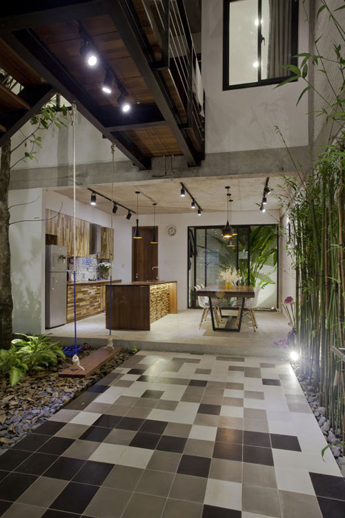 Minimalist street house on the outskirts of Saigon is praised for its green design - Beautiful House (3)