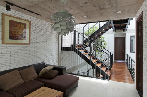 Minimalist townhouse in the outskirts of Saigon is praised thanks to the green design - Beautiful House Number (7)
