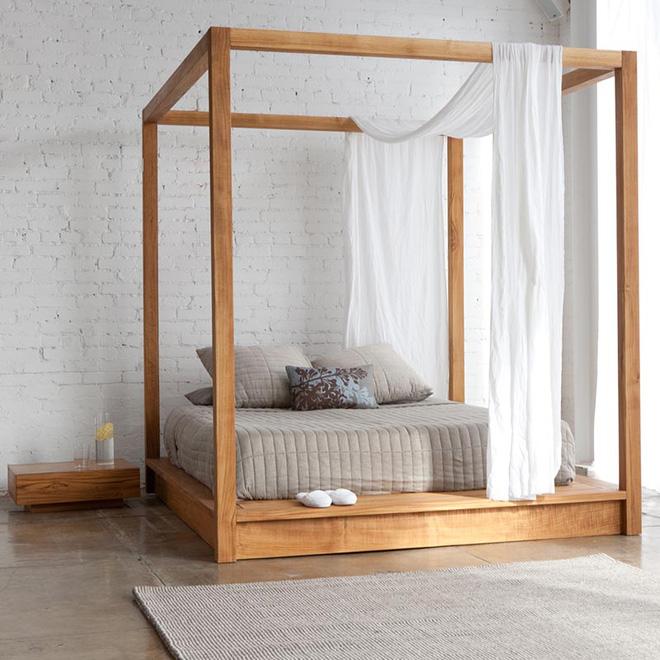 Không gian phòng ngủ thêm thơ mộng nhờ kiểu giường canopy - Nhà Đẹp Số (12)