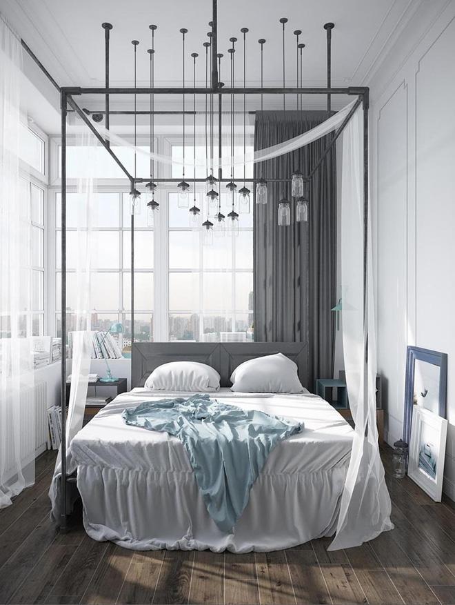 Không gian phòng ngủ thêm thơ mộng nhờ kiểu giường canopy - Nhà Đẹp Số (4)