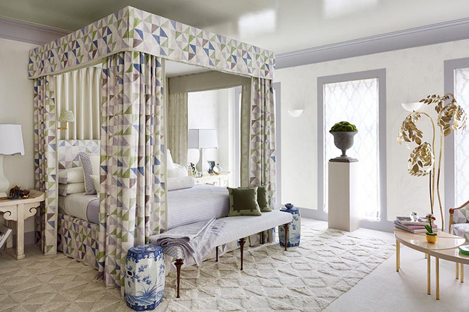 Không gian phòng ngủ thêm thơ mộng nhờ kiểu giường canopy - Nhà Đẹp Số (8)