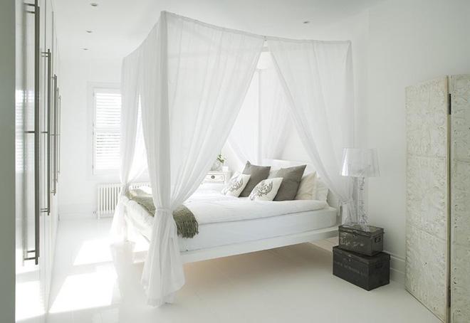 Không gian phòng ngủ thêm thơ mộng nhờ kiểu giường canopy - Nhà Đẹp Số (9)