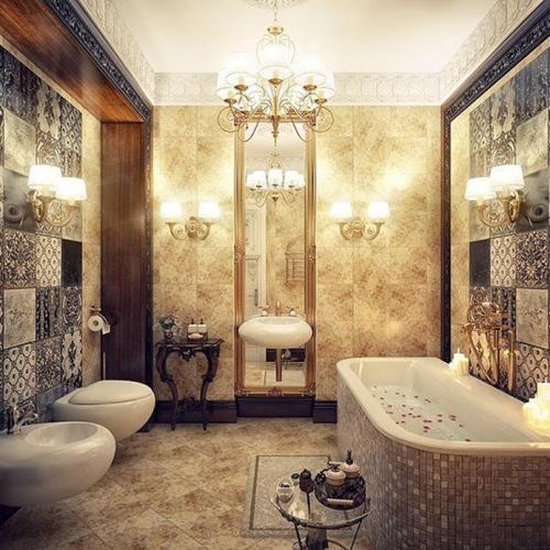 Không gian phòng tắm bội phần lộng lẫy nhờ đèn chùm - Nhà Đẹp Số (2)
