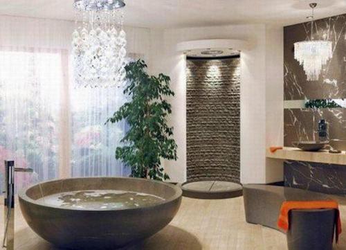Không gian phòng tắm bội phần lộng lẫy nhờ đèn chùm - Nhà Đẹp Số (3)