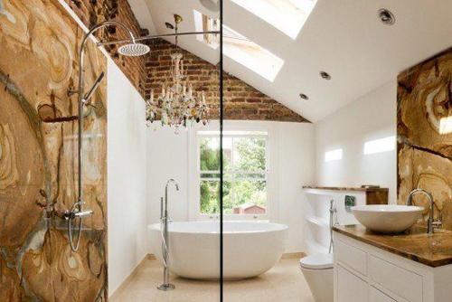 Không gian phòng tắm bội phần lộng lẫy nhờ đèn chùm - Nhà Đẹp Số (5)
