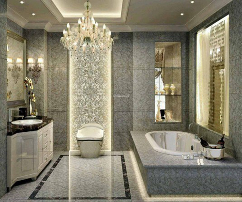 Không gian phòng tắm bội phần lộng lẫy nhờ đèn chùm - Nhà Đẹp Số (6)