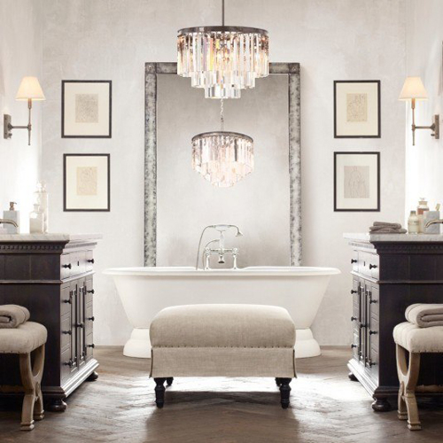 Không gian phòng tắm bội phần lộng lẫy nhờ đèn chùm - Nhà Đẹp Số (7)