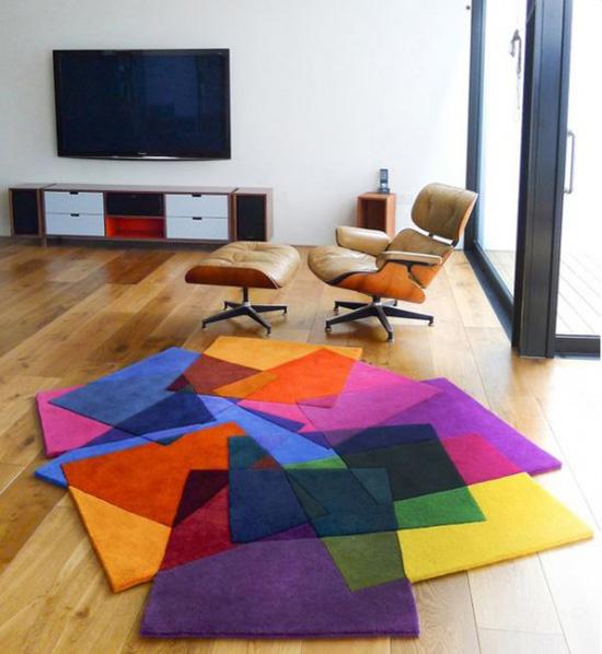 Những mẫu thảm trải sàn phòng khách độc đáo khó rời mắt - Nhà Đẹp Số (1)