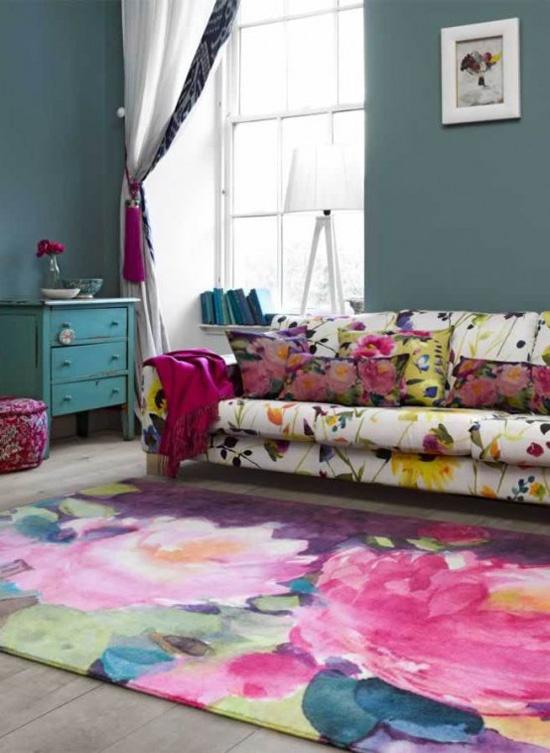 Những mẫu thảm trải sàn phòng khách độc đáo khó rời mắt - Nhà Đẹp Số (5)
