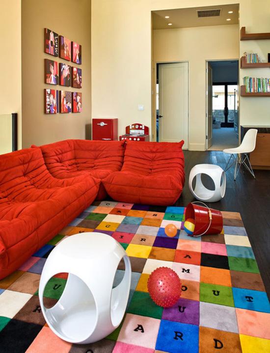 Những mẫu thảm trải sàn phòng khách độc đáo khó rời mắt - Nhà Đẹp Số (8)