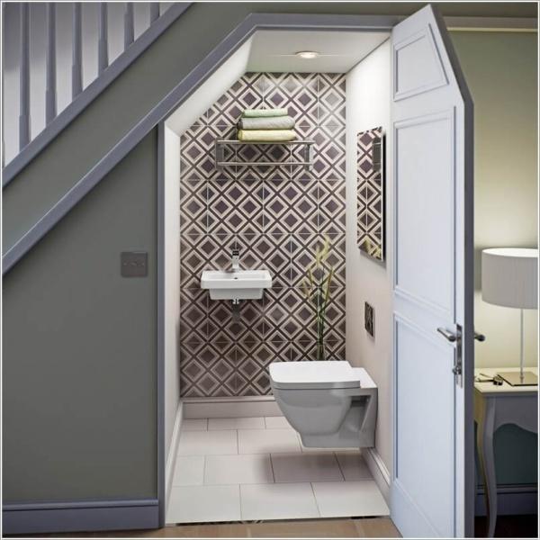 Những thiết kế phòng tắm nhỏ dưới gầm cầu thang nhưng đẹp mê ly ai cũng muốn sở hữu - Nhà Đẹp Số (1)