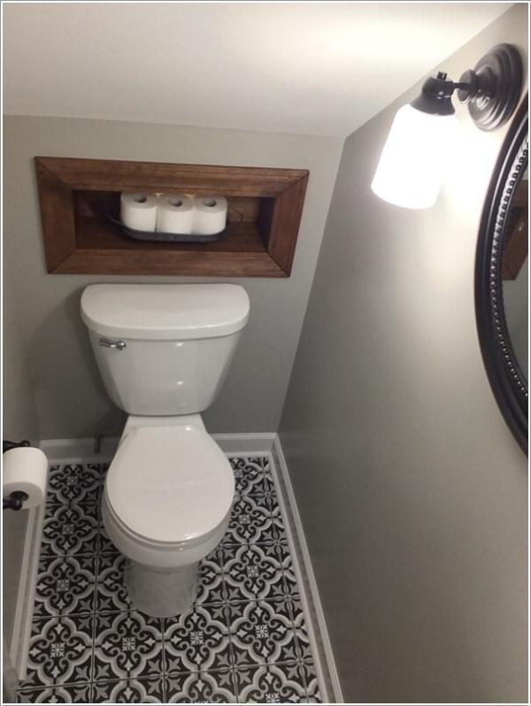 Những thiết kế phòng tắm nhỏ dưới gầm cầu thang nhưng đẹp mê ly ai cũng muốn sở hữu - Nhà Đẹp Số (9)