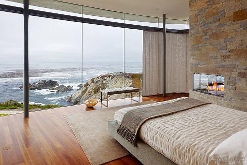 Sang chảnh những mẫu phòng ngủ với vách kính cường lực - Nhà Đẹp Số (11)