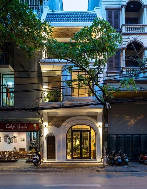Thiết kế nhà phố 4 tầng ở Hà Nội - nơi nét đẹp của những điều xưa cũ lên ngôi - Nhà Đẹp Số (1)