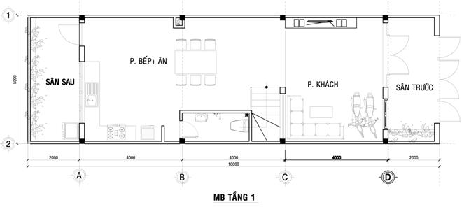 Xây nhà phố đẹp 80 m2 hiện đại hết 1 tỷ đồng ở Sài Gòn - Nhà Đẹp Số (12)