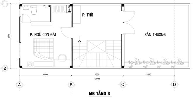 Xây nhà phố đẹp 80 m2 hiện đại hết 1 tỷ đồng ở Sài Gòn - Nhà Đẹp Số (14)